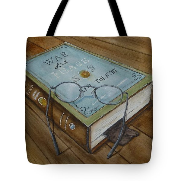 War And Peace Novel Tote Bag by Kelly Mills
