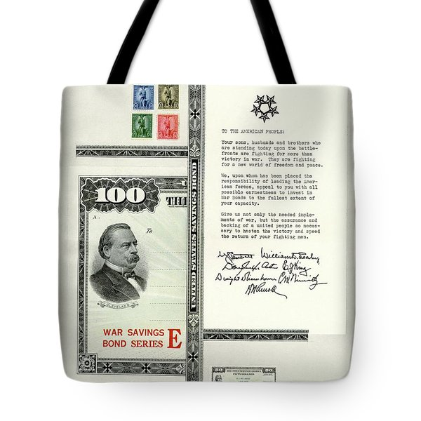 War Bonds, Stamps And A Letter Tote Bag