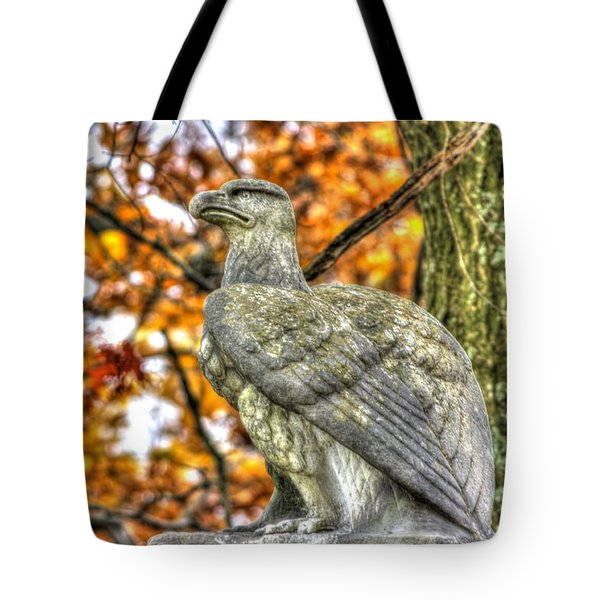 War Eagles - 28th Massachusetts Volunteer Infantry Rose Woods The Wheatfield Fall-a Gettysburg Tote Bag by Michael Mazaika