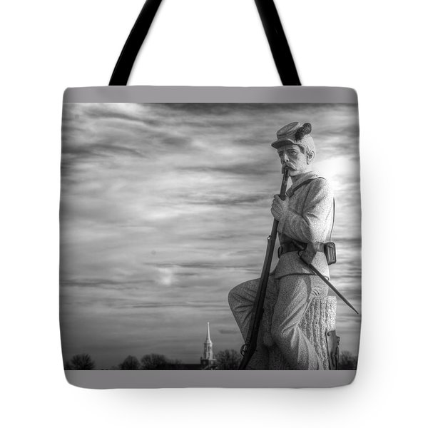 War Fighters - 149th Pa Infantry 1st Regiment Bucktail Brigade-a1 Near Mc Pherson Barn Gettysburg Tote Bag by Michael Mazaika