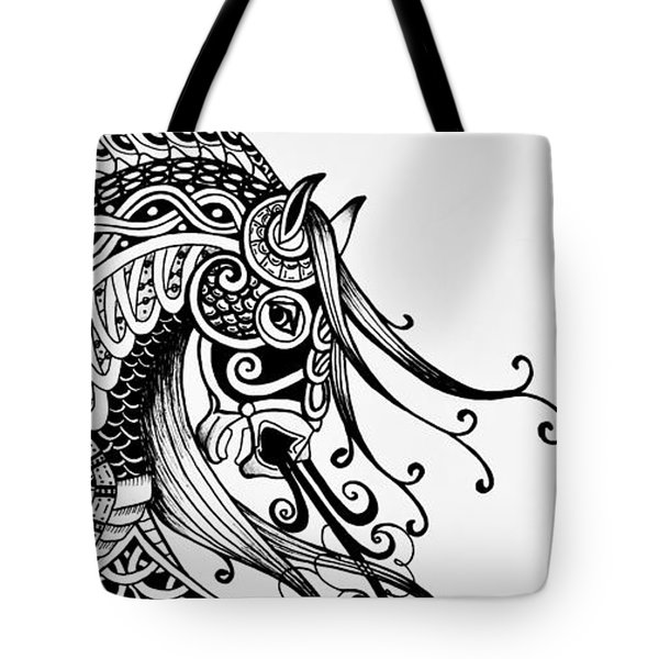 War Horse - Zentangle Tote Bag