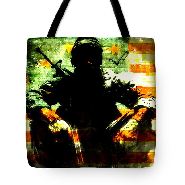 Tote Bag featuring the painting War Is Hell by Brian Reaves