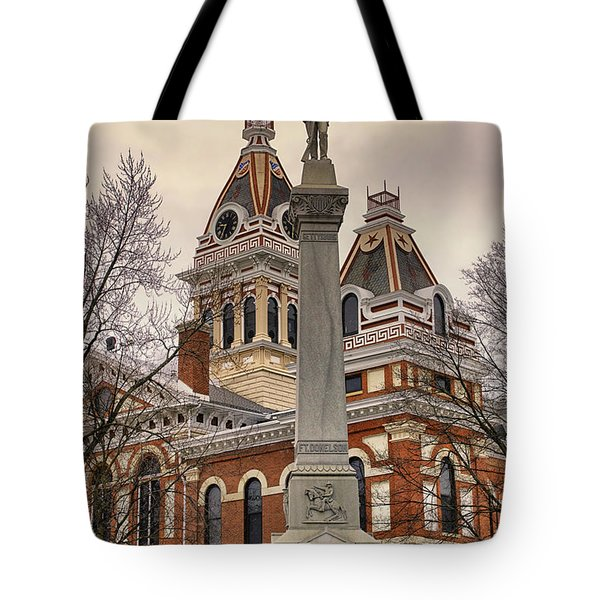 War Memorial Pontiac Il Tote Bag by Thomas Woolworth