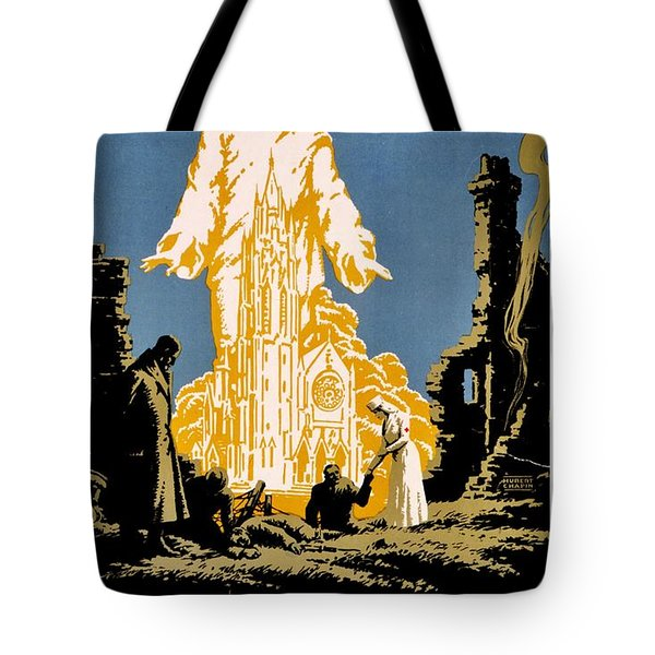 War Poster - Ww1 - Christians Support Red Cross Tote Bag by Benjamin Yeager