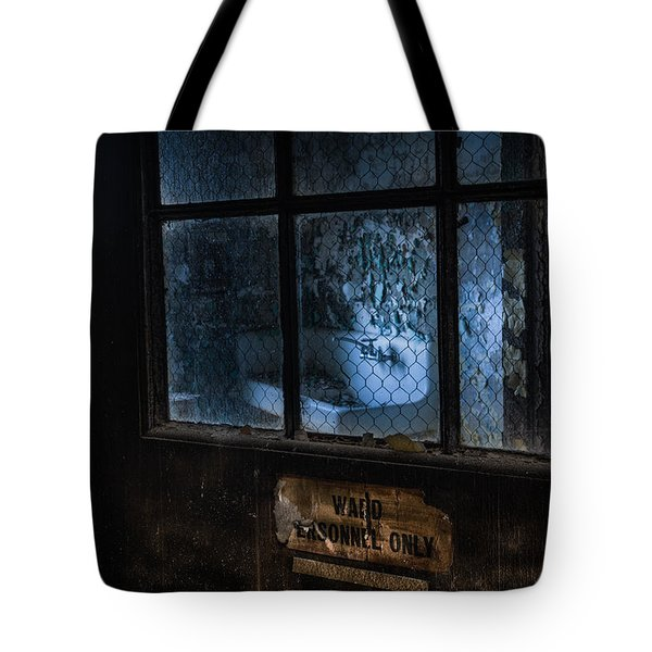 Tote Bag featuring the photograph Ward Personnel Only by Gary Heller