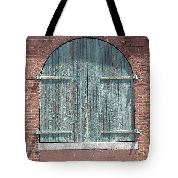 Warehouse Door Tote Bag