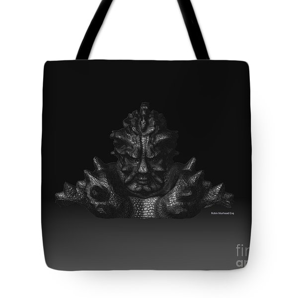 Tote Bag featuring the sculpture Warlord by R Muirhead Art