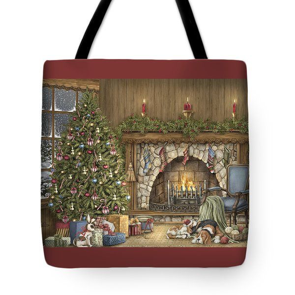 Warm Christmas Tote Bag by Beverly Levi-Parker