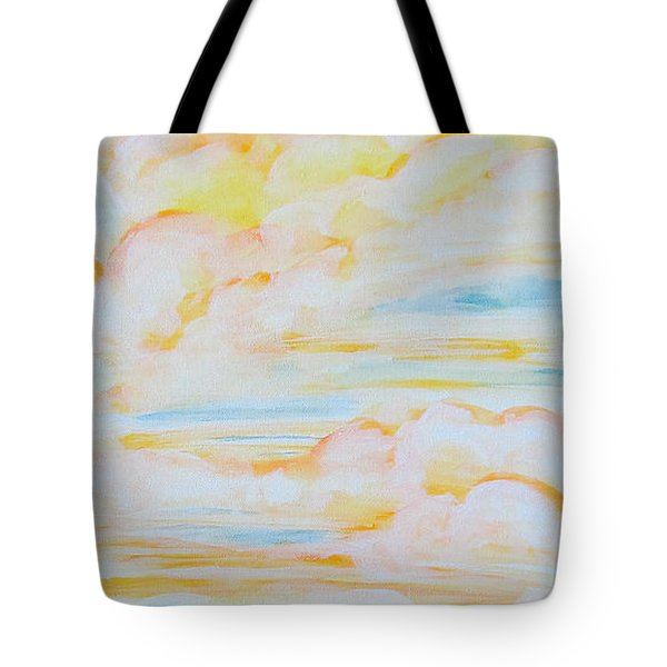 Warm Clouds Tote Bag by Heather  Hiland