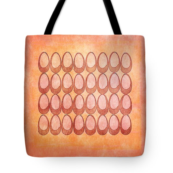 Tote Bag featuring the drawing Warm Eggs by Lenny Carter