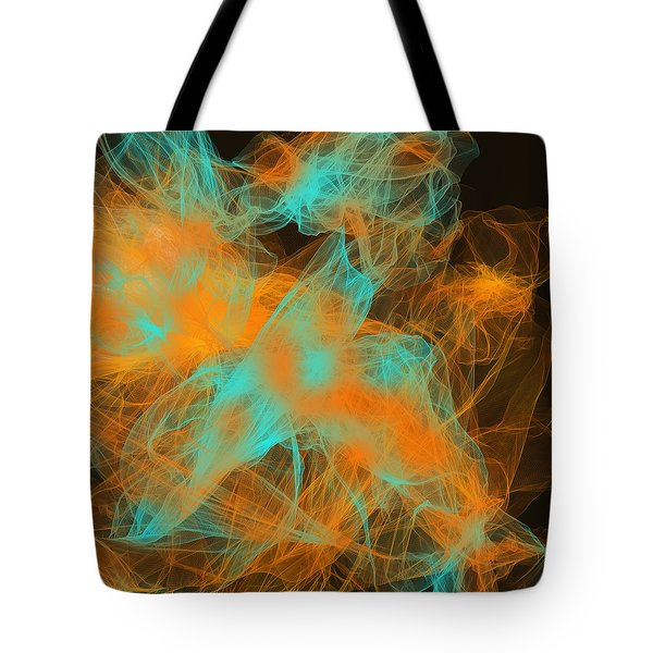 Warm Up Tote Bag by Lourry Legarde