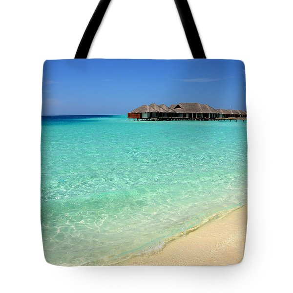 Warm Welcoming. Maldives Tote Bag by Jenny Rainbow