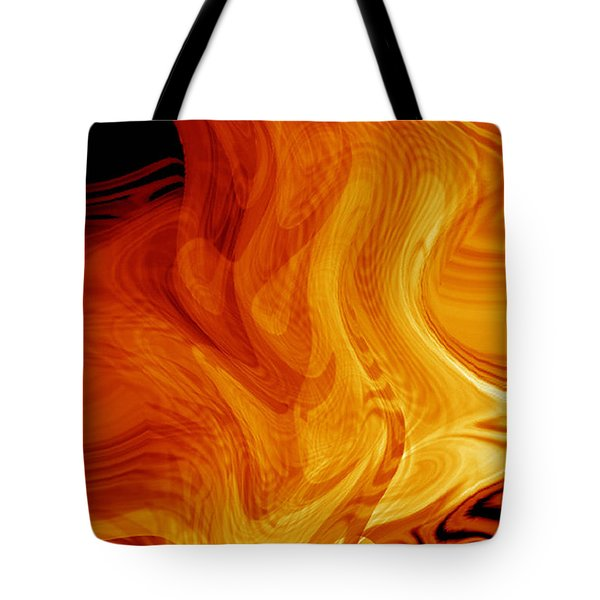 Tote Bag featuring the digital art Warmth by rd Erickson