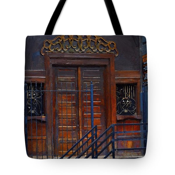 Warning Do Not Enter - Oil Painting Tote Bag by Liane Wright