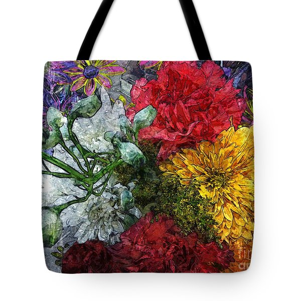 Warning Flowers At Large Tote Bag by Joseph J Stevens