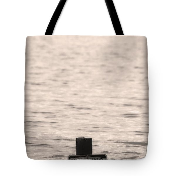 Warning Midwest Floods Tote Bag