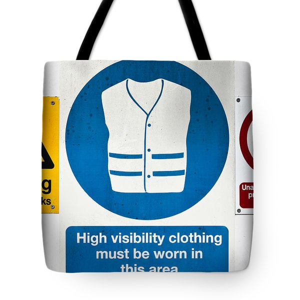 Warning Signs Tote Bag by Tom Gowanlock