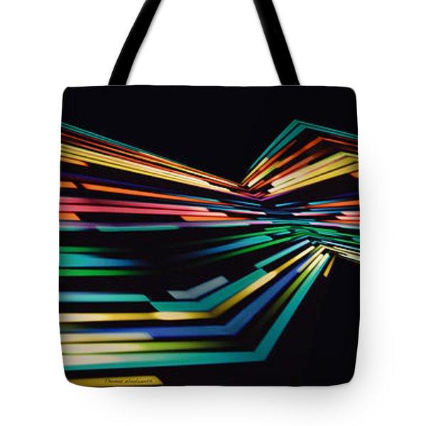 Warp Speed Abstract Panorama Tote Bag