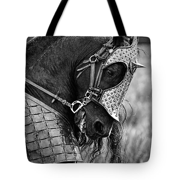 Warrior Horse Tote Bag by Wes and Dotty Weber