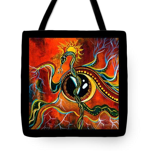 Tote Bag featuring the painting Warrior Spirit Eye by Deborha Kerr