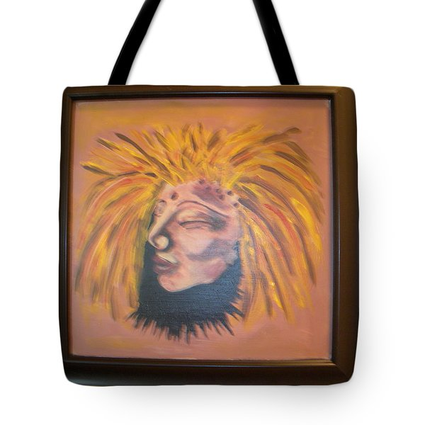 Tote Bag featuring the painting Warrior Woman #1 by Sharyn Winters