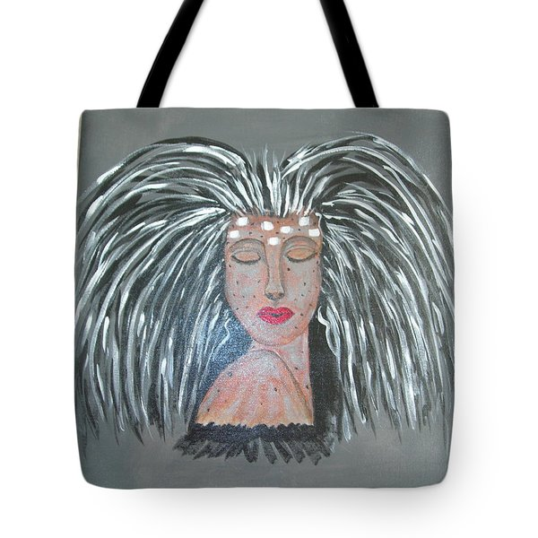 Tote Bag featuring the painting Warrior Woman #2 by Sharyn Winters