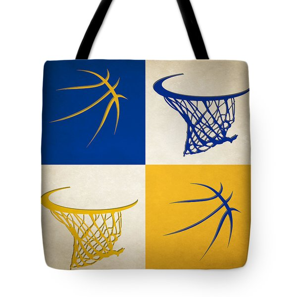Warriors Ball And Hoop Tote Bag