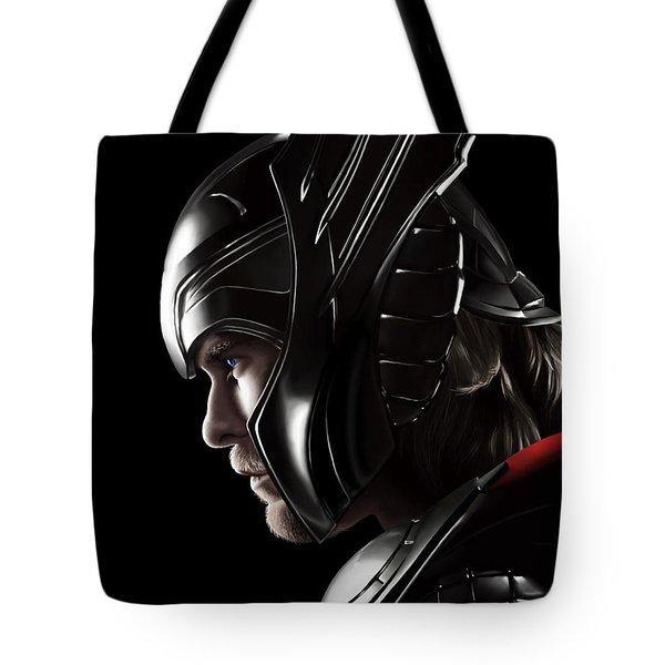 Warrior's Stare Tote Bag by Kayleigh Semeniuk
