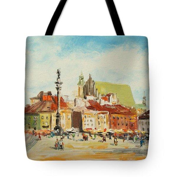Warsaw- Castle Square Tote Bag