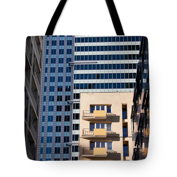 Warsaw Downtown Architecture Tote Bag by Artur Bogacki