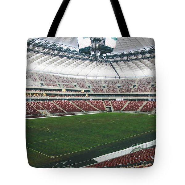 Warsaw Stadion Tote Bag by Pati Photography
