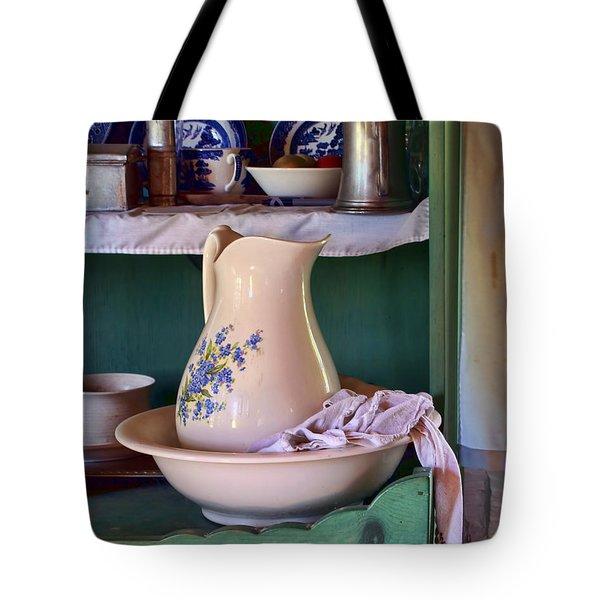 Wash Basin Still Life Tote Bag by Nikolyn McDonald