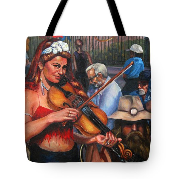 Washboard Lissa On Fiddle Tote Bag