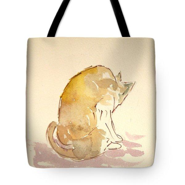 Washing Cat I Tote Bag
