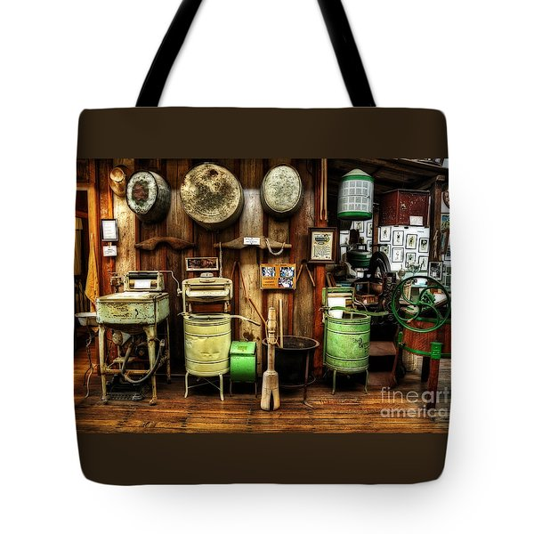 Washing Machines Of Yesteryear Tote Bag