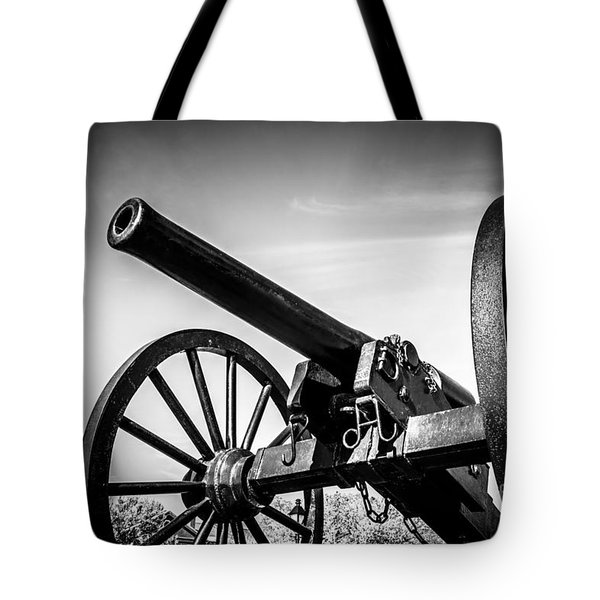 Washington Artillery Park Cannon In New Orleans Tote Bag by Paul Velgos