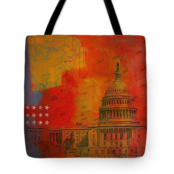 Washington City Collage Alternative Tote Bag by Corporate Art Task Force