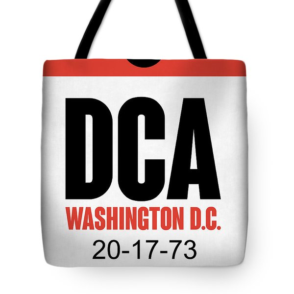 Washington D.c. Airport Poster 1 Tote Bag by Naxart Studio