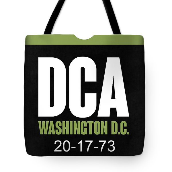 Washington D.c. Airport Poster 2 Tote Bag by Naxart Studio