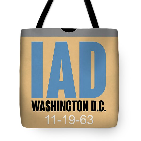 Washington D.c. Airport Poster 3 Tote Bag by Naxart Studio