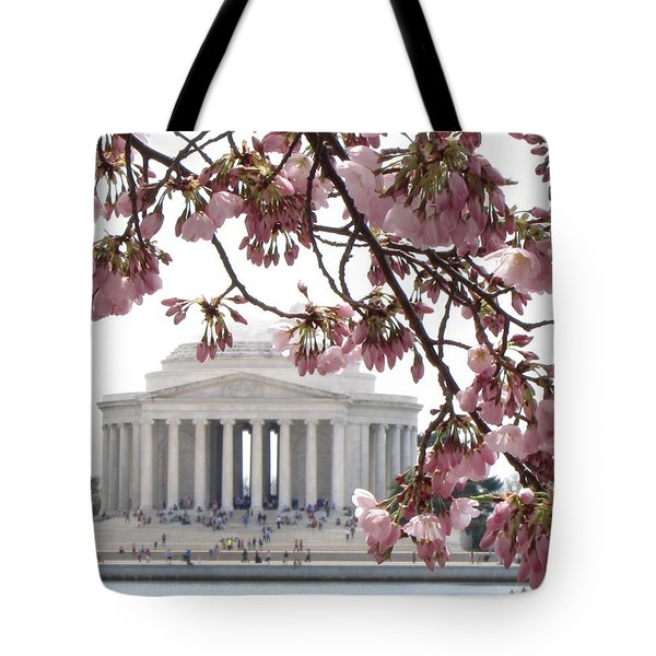 Washington Dc In Bloom Tote Bag by Jennifer Wheatley Wolf