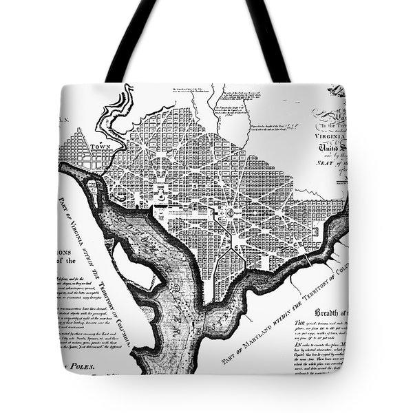 Washington, D.c. Plan, 1792 Tote Bag by Granger