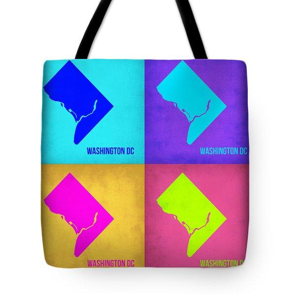 Washington Dc Pop Art Map 1 Tote Bag