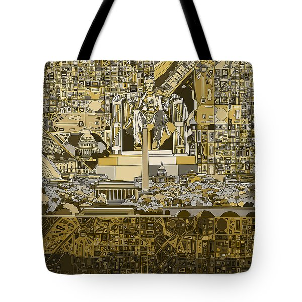 Washington Dc Skyline Abstract 4 Tote Bag