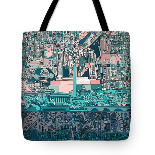 Washington Dc Skyline Abstract 5 Tote Bag