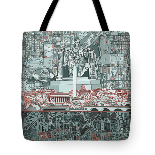 Washington Dc Skyline Abstract Tote Bag