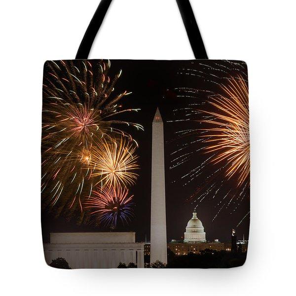 Washington Fireworks Tote Bag
