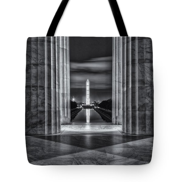 Washington Monument From Lincoln Memorial II Tote Bag