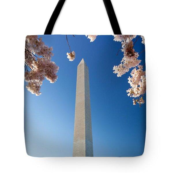 Washington Monument Tote Bag by Inge Johnsson