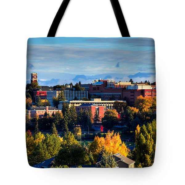 Washington State University In Autumn Tote Bag by David Patterson